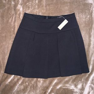 J. Crew Crepe Pleated Mini Skirt
